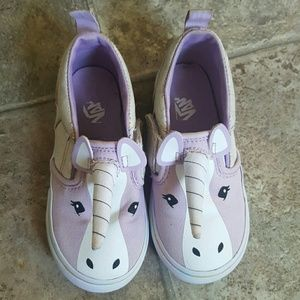 Toddler girl's Vans unicorn slip on sneakers sz 9